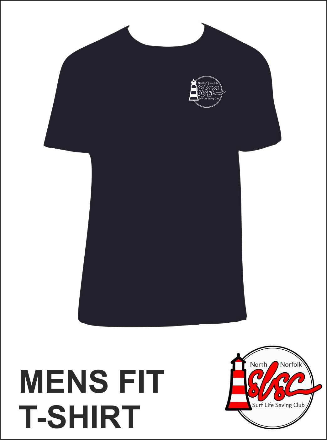Mens Small Print T Shirt Navy