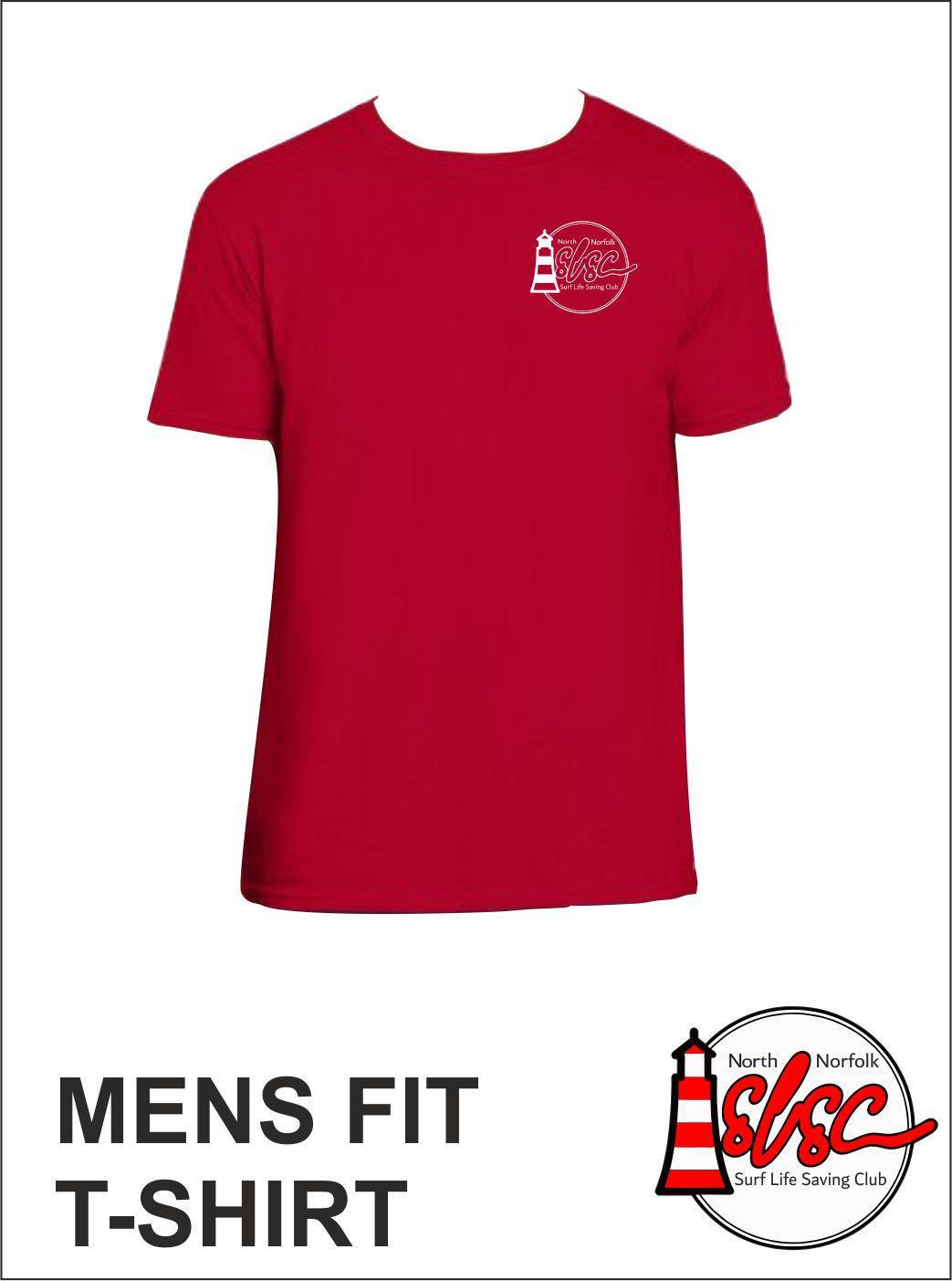 Mens Small Print T Shirt Red