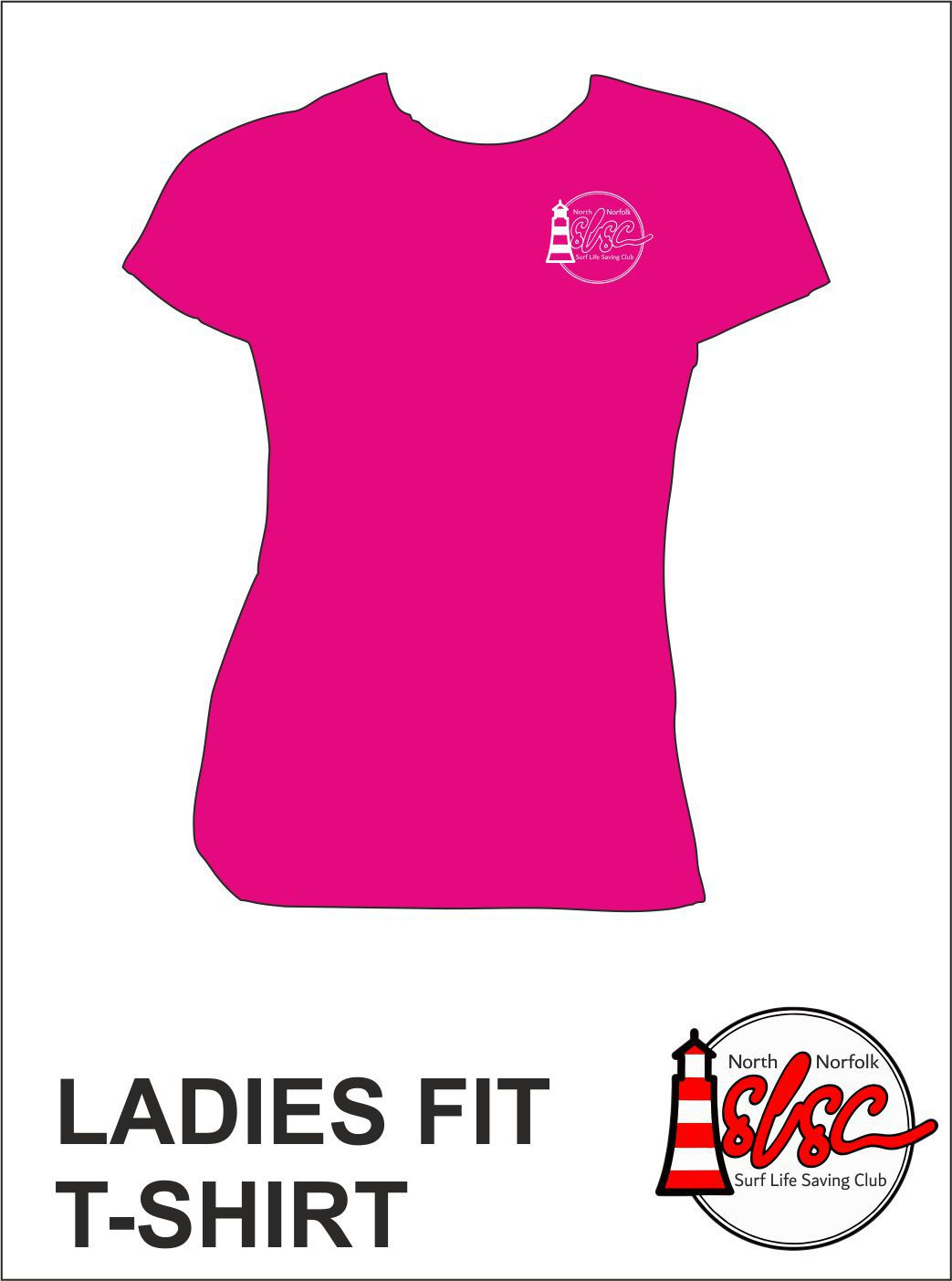 Ladies T Shirt Small Print Bright Pink