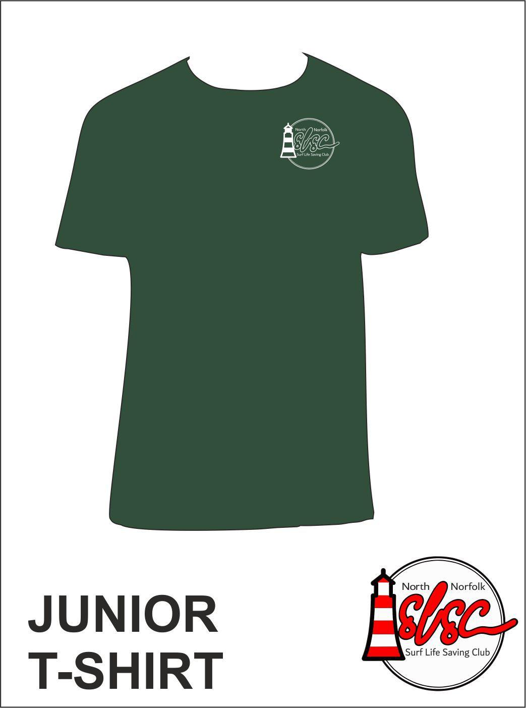 Junior T Shirt Small Print Bottle Green