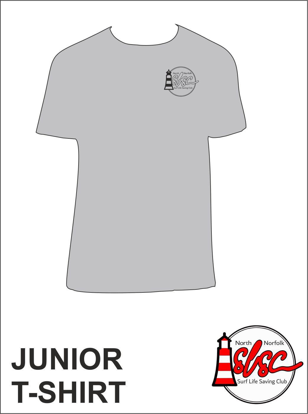 Junior T Shirt Small Print Grey