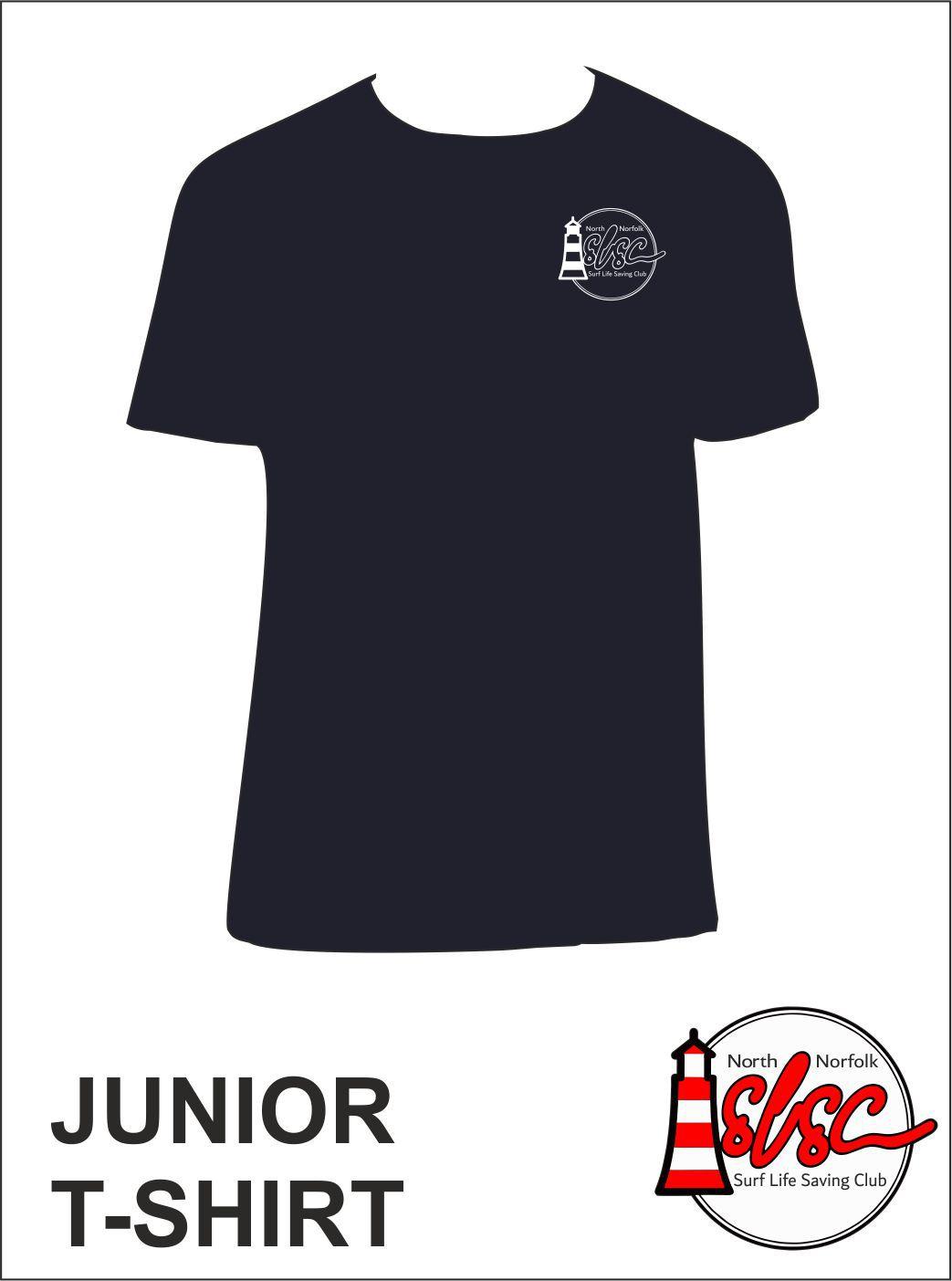 Junior T Shirt Small Print Navy