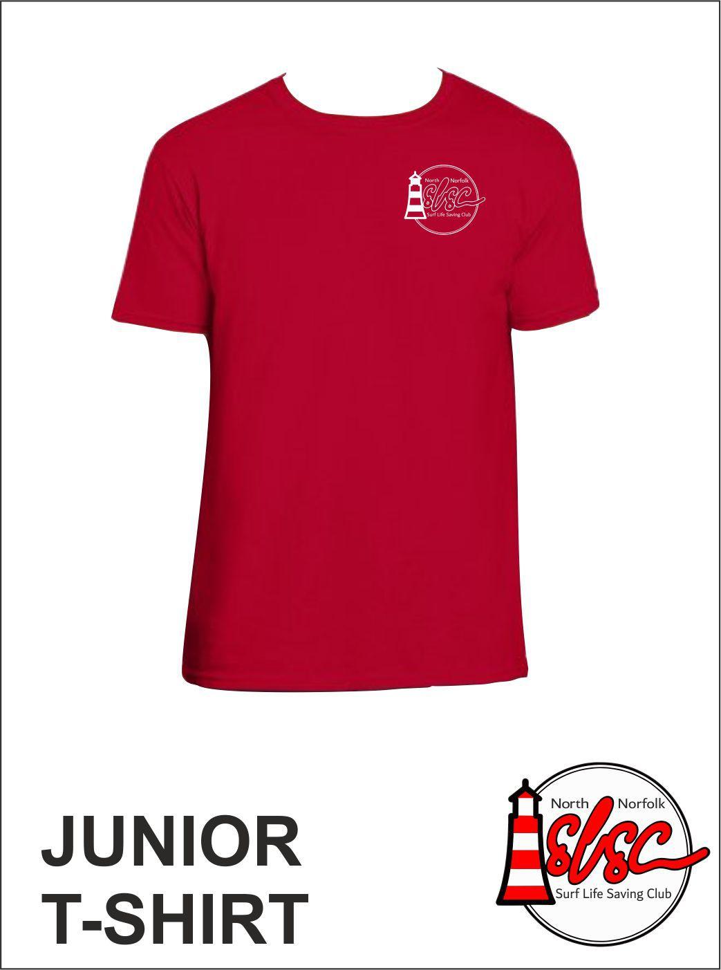 Junior T Shirt Small Print Red