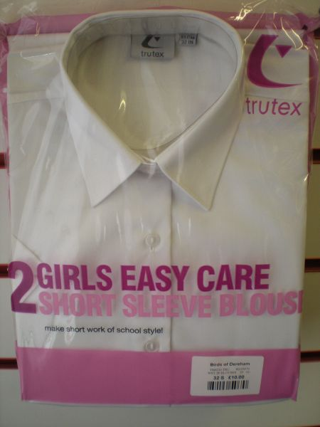 Twin Pack Short-sleeved Easy Care Blouses