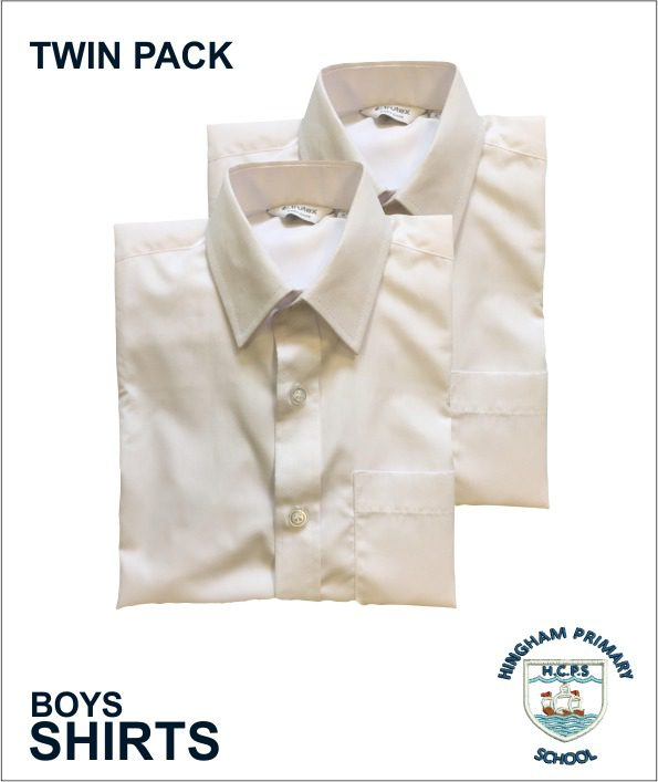 Boys Long Sleeve Shirts (hingham Primary) Twin Pack
