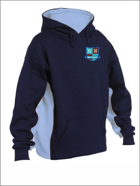 Panel Hooded Sweatshirt