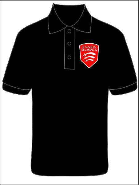 Polo Shirt (essex Blades) Netball Club