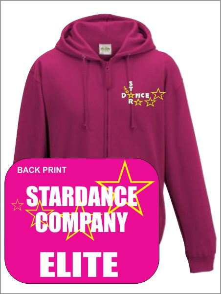 Zip Up Hoody (star Dance) Elite