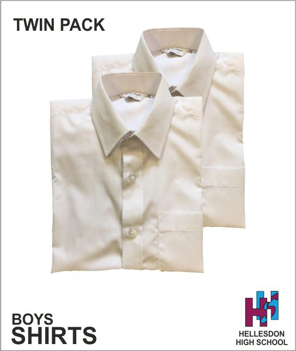 Hellesdon High Boys Twin Pack Shirts