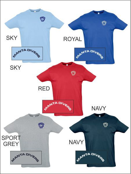 Manta Driving Club Tee Colours