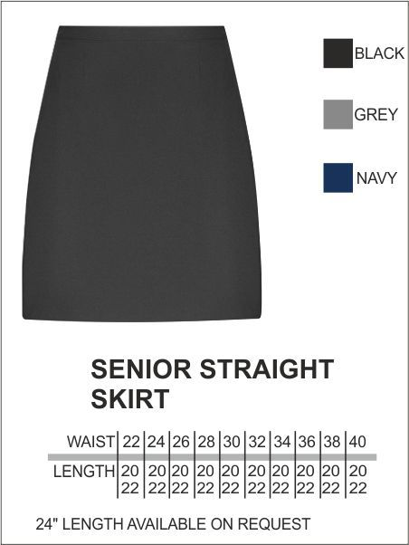 Senior Straight Skirt