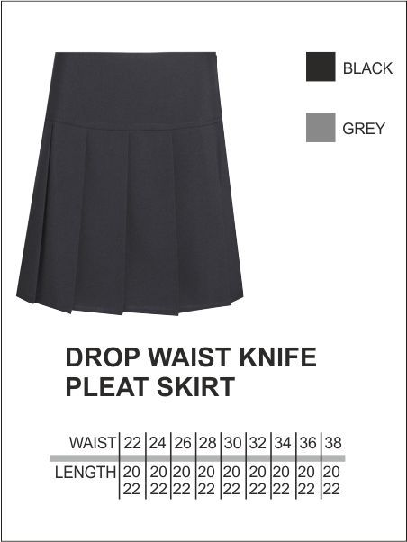 Drop Waist Knife Pleat