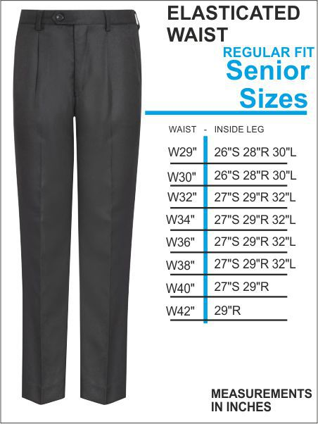 Langley Uniform Elasticated Back Trouser Senior