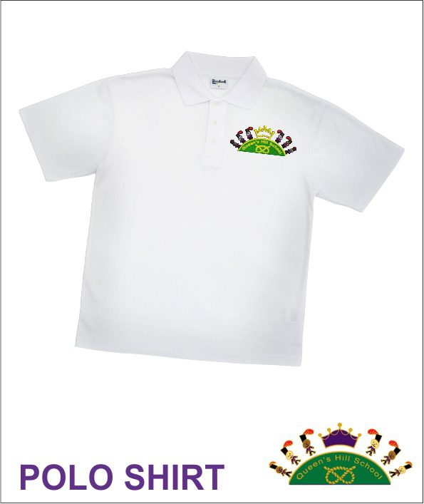 Queen S Hill School White Polo