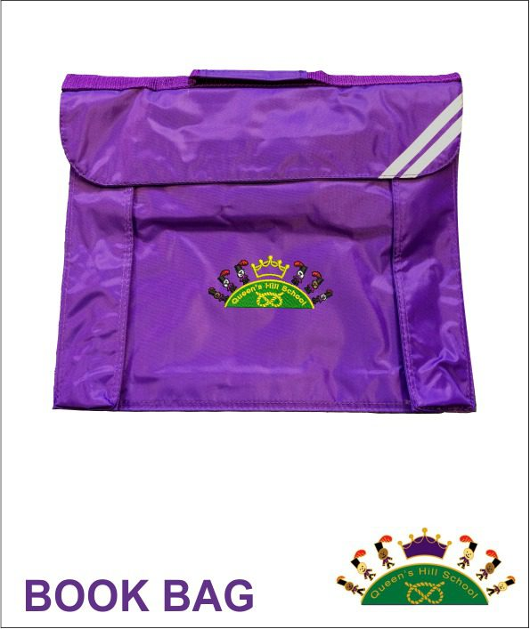 Queen S Hill School Expandable Book Bag