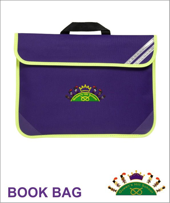 Queen S Hill School Hi Viz Book Bag