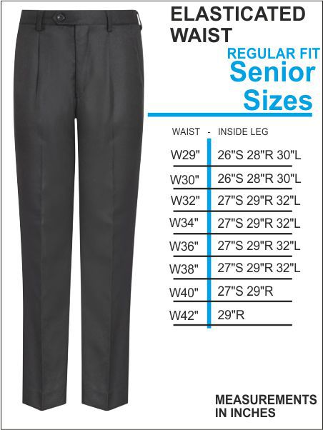 Elasticasted Waist Senior Trousers
