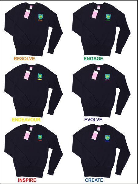 Framingham Earl School V Neck Sweater
