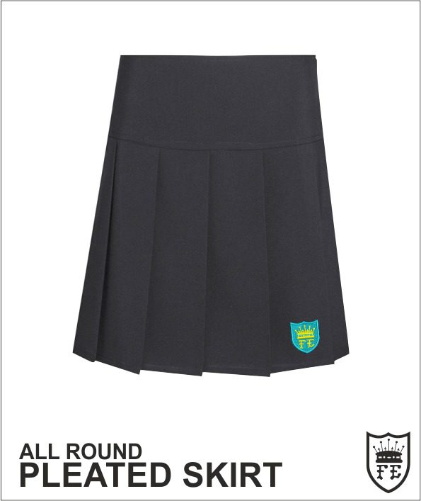 Drop Waist Knife Pleat Skirt