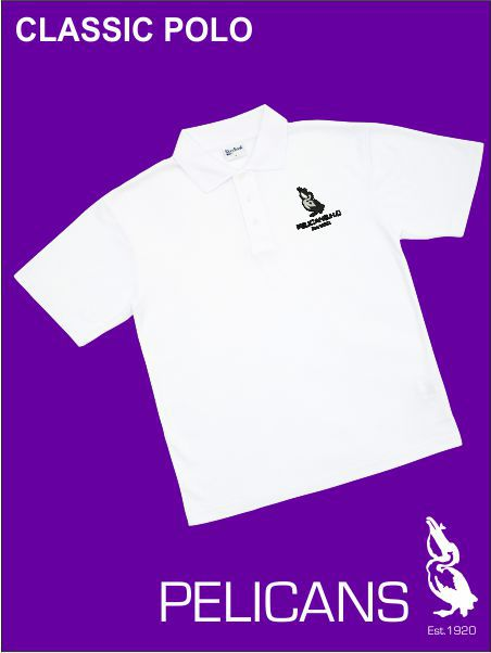 Pelican Club White Polo
