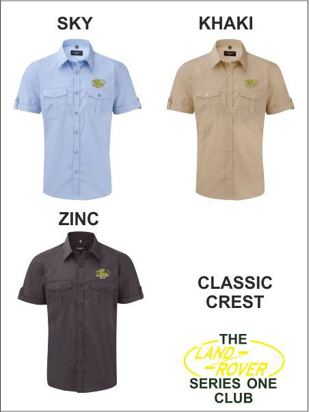 Short Sleeve Safari Shirt Classic 2 Colour Crest