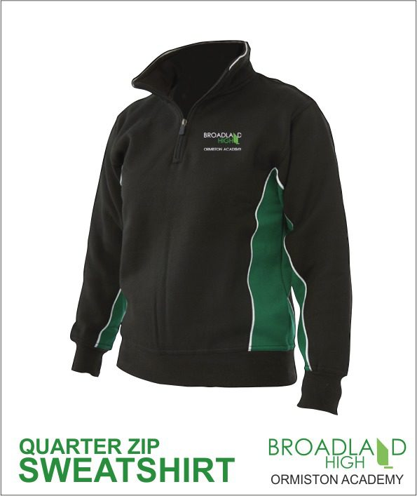 Broadland High School Zip Up Sweatshirt