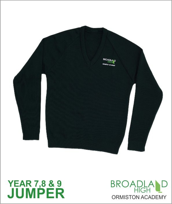 Broadland High School Green Sweater