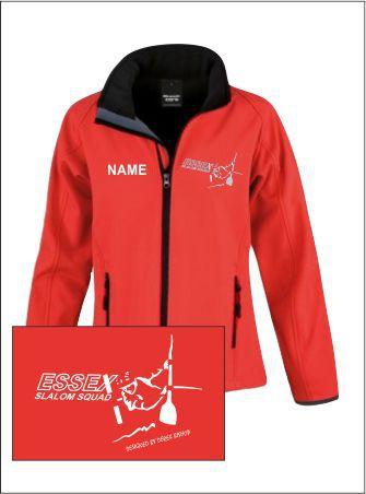 Essex Slalom Womens Red Softshell
