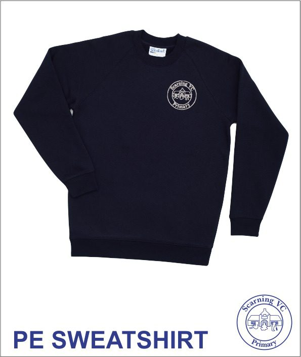 Embroidered Navy Pe Sweatshirt