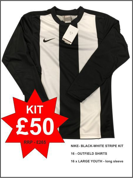 Nike Black White Stripe Kit