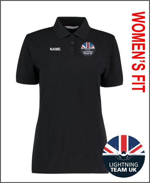 Ladies Black Polo
