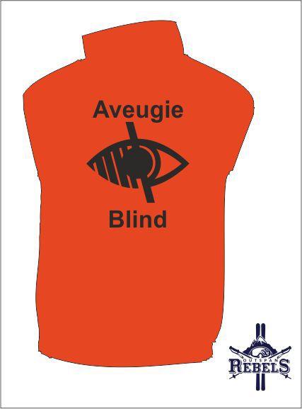 Blind Vest Orange Back
