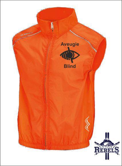 Blind Vest Orange Front