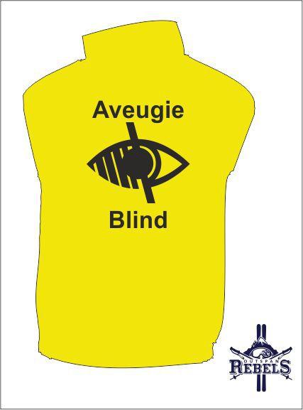 Blind Vest Yellow Back