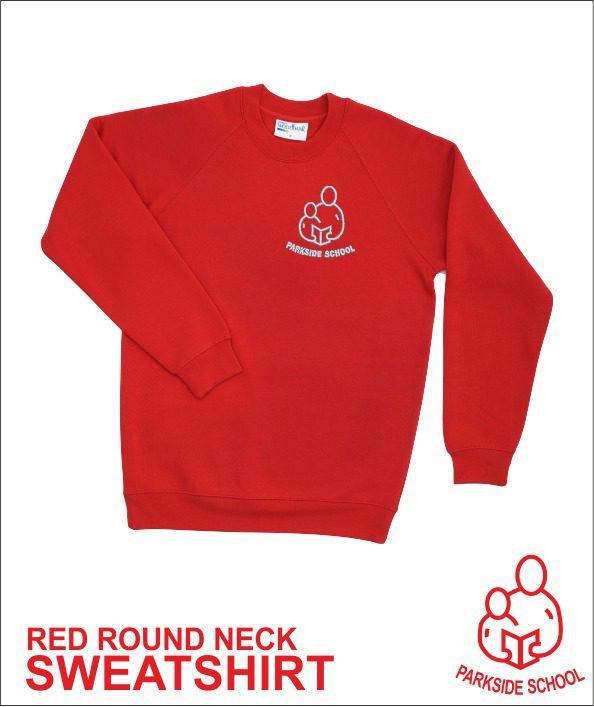 Round Neck Sweatshirt Red