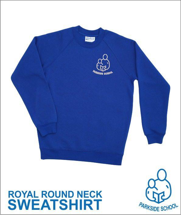 Round Neck Sweatshirt Royal