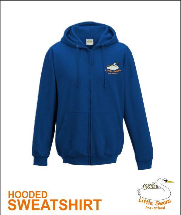Zip Hoody Blue