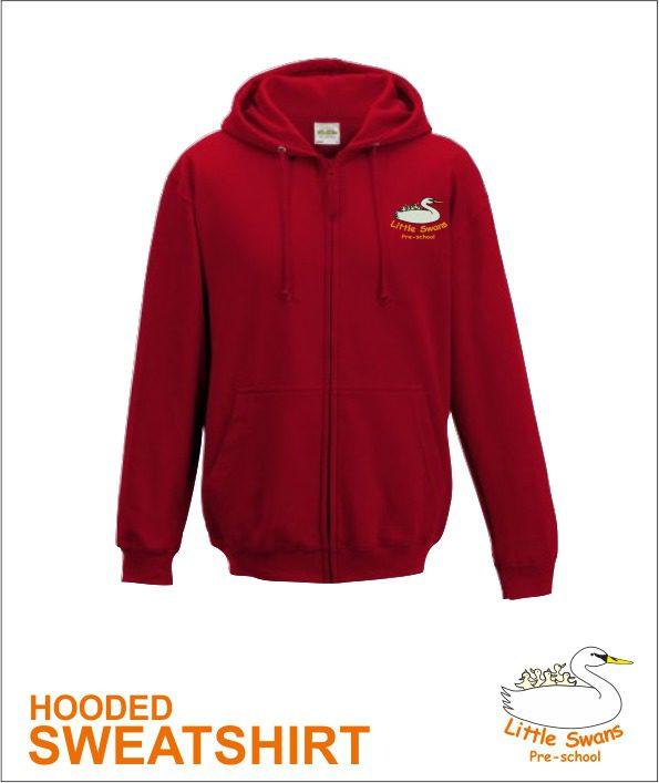 Zip Hoody Red