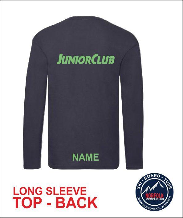 Junior Long Sleeve Navy back