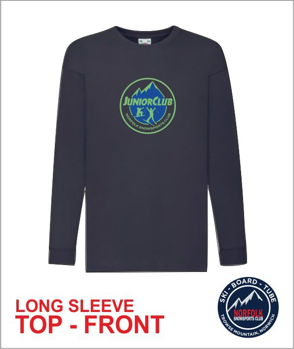 Junior Long Sleeve Navy front