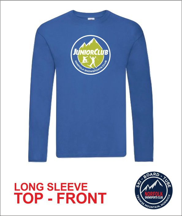 Junior Long Sleeve Royal Front