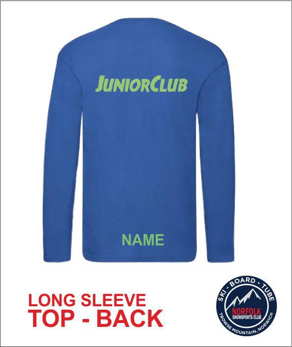 Junior Long Sleeve Royal Back