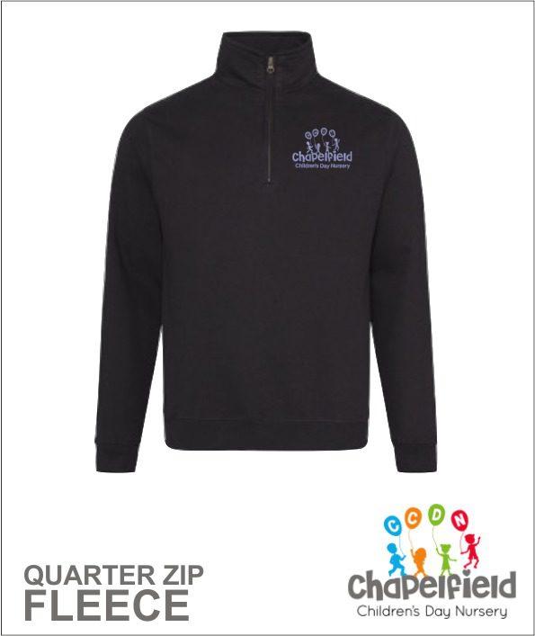 Quarter Zip Black