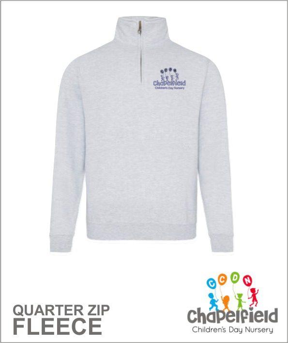 Quarter Zip Grey