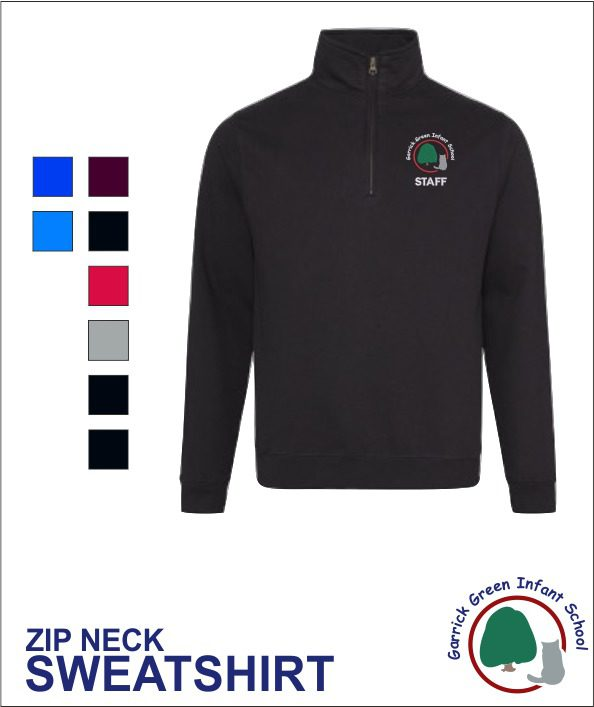 Staff Zip Neck Sweatshirt