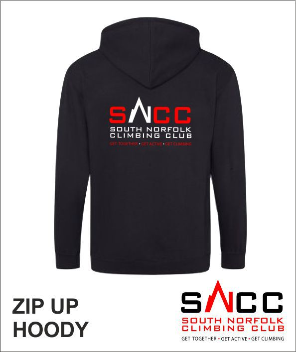 Zip Up Hoody Black Back