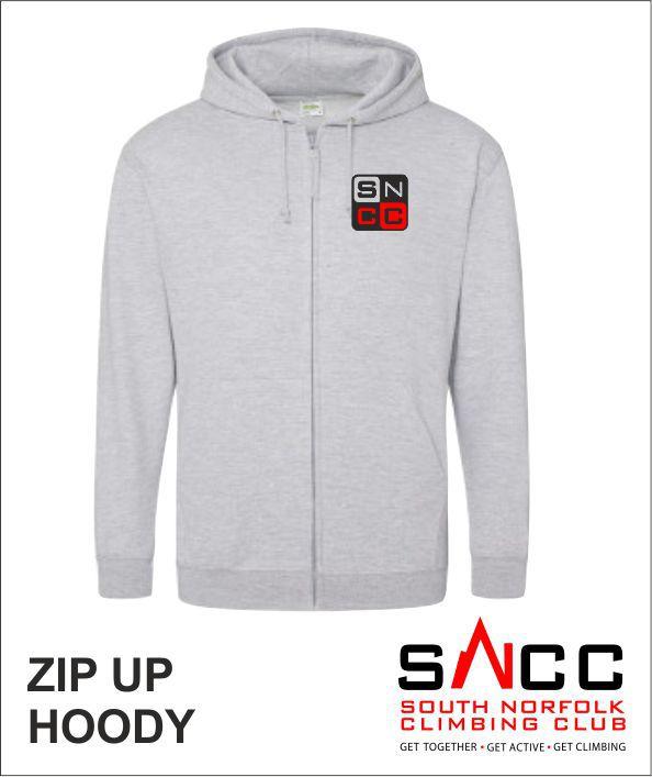 Zip Up Hoody Grey Front