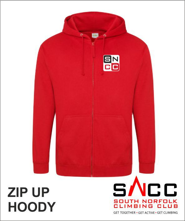 Zip Up Hoody Red Front