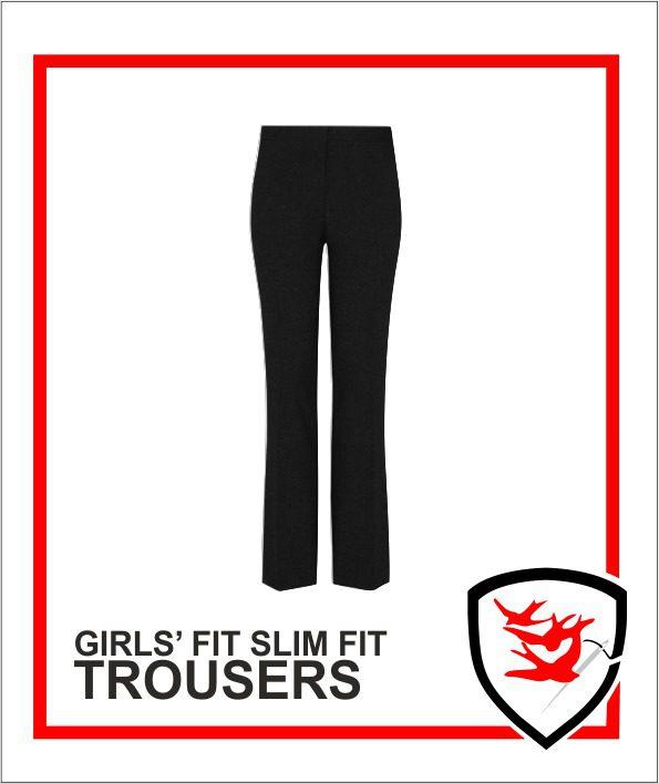 Girls Slim Fit Trousers