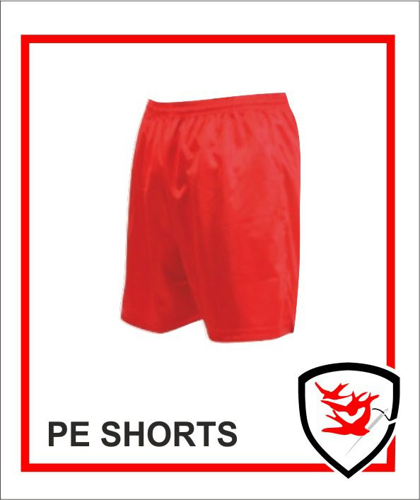 PE Shorts - Red